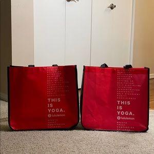 Lululemon Reusable Large tote bag bundle